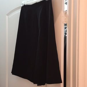 Black skirt with sheer fabric both front and back
